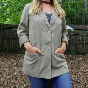 Khaki Lightweight Oversized Blazer